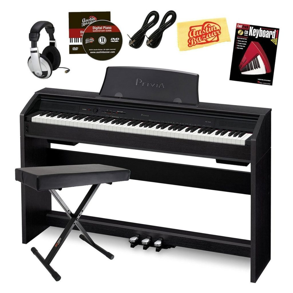 Casio Privia PX-760 Digital Piano Black Friday Bundle
