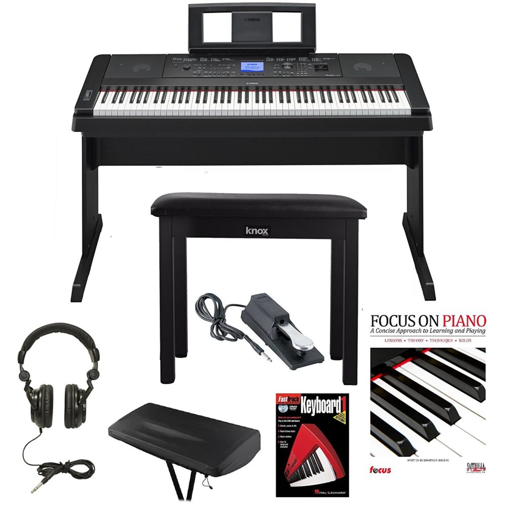 Yamaha DGX-660 88 Weighted Keys Digital Piano Bundle