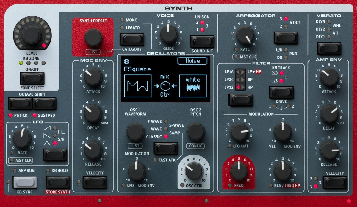 Nord Stage 3 Synth Section