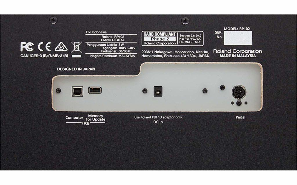 Roland RP102 Connectivity