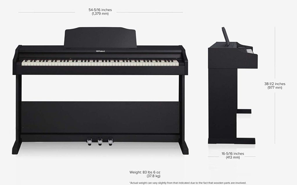 Roland RP102 Dimensions