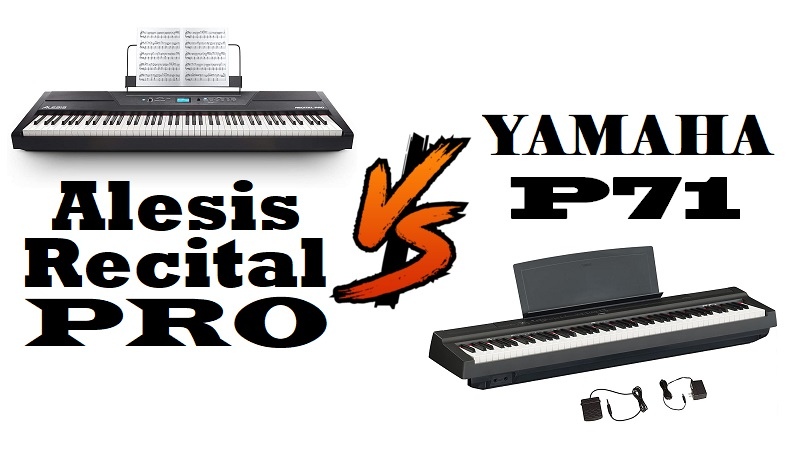 Alesis Recital Pro vs Yamaha P71