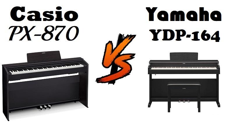 Casio PX-870 vs Yamaha YDP-164