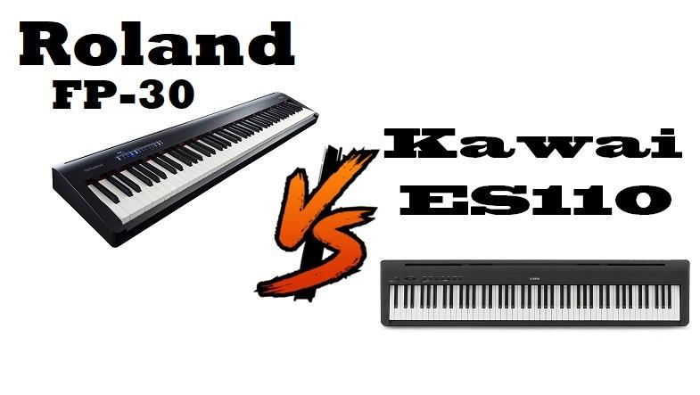 Roland FP-30 vs Kawai ES110
