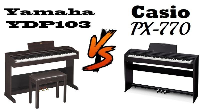 Yamaha YDP103 vs Casio PX-770