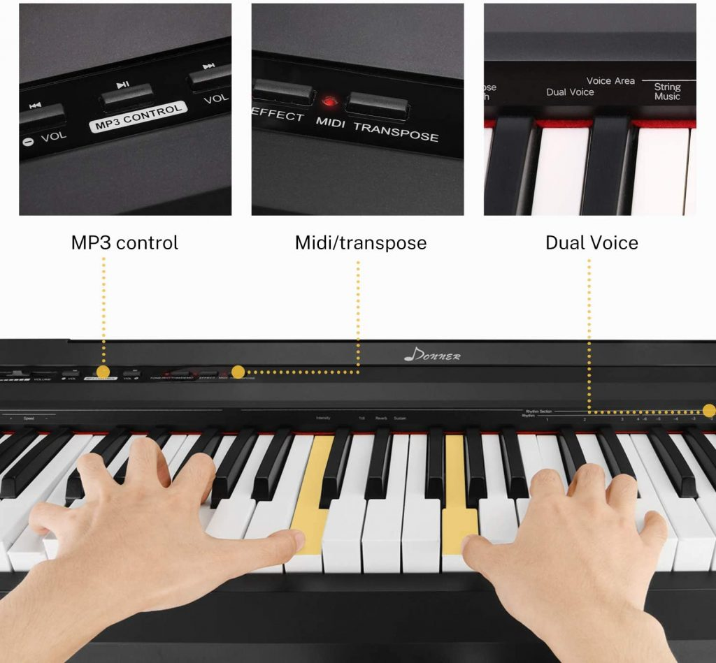 Donner DEP-10 Digital Piano Functions